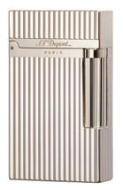 S.T. Dupont Line 2 'Elegance' Lighter - Silver Montparnasse Vertical Lines