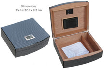 Desktop Humidor - Carbon Fibre Paper + Digital Hygrometer