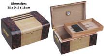 Solid Wood Desktop Humidor