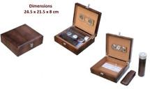 Leather Humidor gift Set