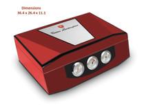 Lamborghini Design Humidor - Red