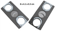 Rectangular Metal Cigar Cutter - Chrome & Silver