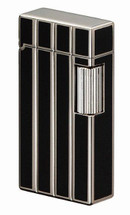 Sarome SD1 Classic Flint Lighter - Silver Diamond Cut + Black