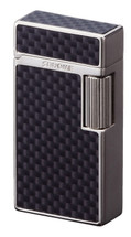 Sarome SD1 Classic Flint Lighter - Silver Satin / Carbon Fibre