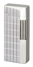 Sarome SD41 Flint Lighter - Silver Sandblast Diamond Cut