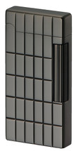 Sarome SD6 Flint Lighter - Gun Metal Lattice Diamond Cut