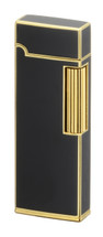Sarome SD9 Flint Lighter - Brass & Black Lacquer