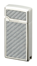 Sarome BM15A Jet Flame  - Silver & Carbon Fibre Pattern with Punch