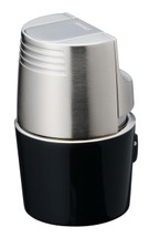 Sarome T3BM Triple Jet Lighter - Black Silver