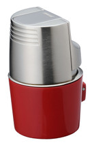 Sarome T3BM Triple Jet Lighter - Red Silver