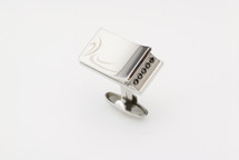 Sarome Nightrider Metal & black Crystal Cufflinks