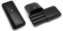 Three Cigar Leather Cigar Holder - Cohiba Design