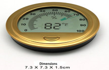 Digital Hygrometer - Round Gold