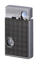 Sarome SV9B Flint Lighter - Light Gray lattice diamond cut