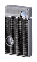Sarome SV9B Flint Lighter - Light Gray lattice diamond cut
