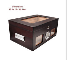Large Humidor with Digital Hygrometer
