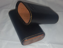 Ebony Leather Case - 3 Cigars