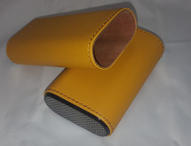 Leather Case with Carbon Fibre - 3 cigars