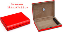 Cigar Humidor - High Gloss Red