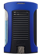 Colibri Daytona Single Jet Lighter - Blue & Black