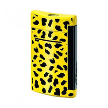 S.T. Dupont MiniJet Lighter - Black & Yellow Leopard