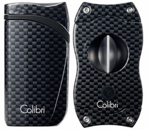 Colibri Falcon + V-Cut Gift Set - Black Carbon Fibre