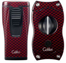 Colibri Monaco + V-Cut Gift Set - Red Carbon Fibre