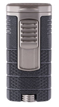 Xikar Tactical Triple Jet Lighter - Black & Gunmetal