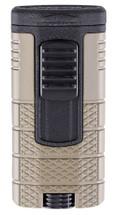 Xikar Tactical Triple Jet Lighter - Tan & Black