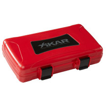 Xikar 5 Cigar Travel Humidor - Red