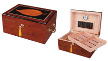 Deauville High Gloss Maple Wood Humidor