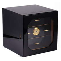 High Gloss Cigar Cabinet - Black