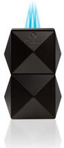 Colibri Quasar Tabletop Triple Flame lighter - Black