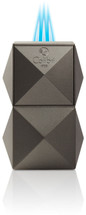 Colibri Quasar Tabletop Triple Flame lighter - Gunmetal