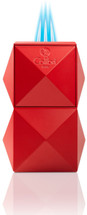 Colibri Quasar Tabletop Triple Flame lighter - Red