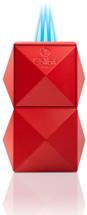 Colibri Quasar Tabletop Triple Flame lighter - Red