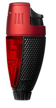 Colibri Talon Single Jet Lighter - Black & Red
