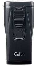 Colibri Monaco Triple Jet Lighter - Metallic Black