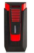 Colibri Slide Double Jet Lighter - Black & Red