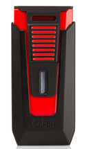 Colibri Slide Double Jet Lighter - Black & Red