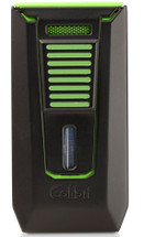 Colibri Slide Double Jet Lighter - Black & Green