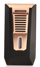 Colibri Slide Double Jet Lighter - Black & Rose