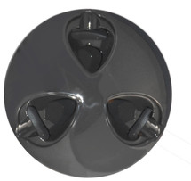 Ash-Stay Three Cigar Ashtray - Gunmetal