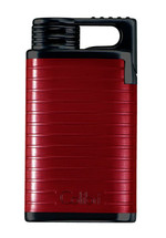 Colibri Belmont Single Jet Lighter - Red & Black