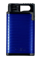 Colibri Belmont Single Jet Lighter - Blue & Black