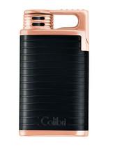 Colibri Belmont Single Jet Lighter - Black & Rose Gold