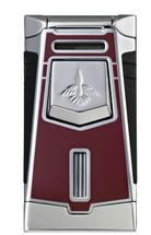Colibri Empire Single Jet Lighter - Burgundy