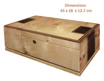 Toulouse II - 175 Count Humidor - Mapa Burl Finish