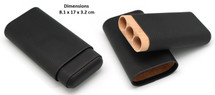 Three Finger Leather Cigar Holder