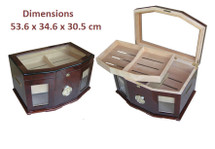 The Majestic - Glass Top Humidor